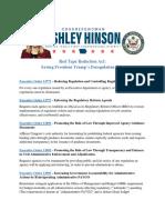 Hinson's Saving Trump's Deregulation EOs