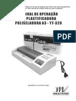 Manual Plastificadora Poliseladora YT-320