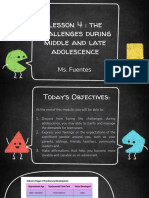 PD Lesson 4 Challenges of Middle and Late Adolescence
