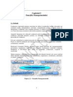 (02) Functiile managemnetului