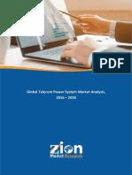 Sample_Telecom Power System Market -Global & Regional Perspectives Repor...
