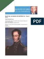 Bolivar .- Alfarero de Repúblicas