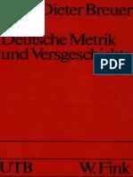 (UTB 745) Dieter Breuer - Deutsche Metrik und Versgeschichte-Fink (1991)