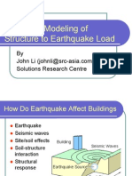 Computer Modeling of Structure to Earthquake Load