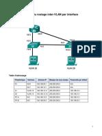TP 4.1 Routage Inter VLAN Par Interface