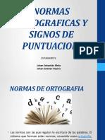 NORMAS ORTOGRAFICAS Y SIGNOS DE PUNTUACION