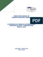 Mercado de Trabajo Costarricense situacion actual y perspectivas 2010