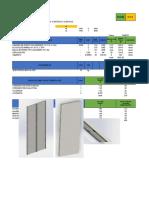 Lista de Materiales Paneles de Perfil c