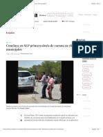 La Jornada - Concluye en SLP primera dosis de vacuna en 58 municipios