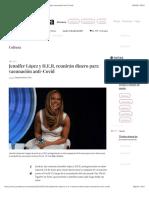 La Jornada - Jennifer López y H.E.R. reunirán dinero para vacunación anti-Covid