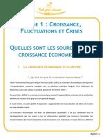 Digischool Croissance Fluctuation Et Crise Quelles Sont Les Sources de La Croissance Economie Tes Farssad