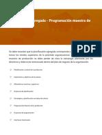 Planificación agregada - Programación maestra de