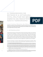 O TERRORISMO DE ESTADO E A DITADURA