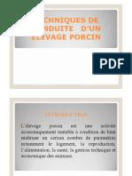 TECHNIQUES D'ELEVAGE PORC