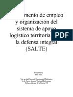I Corte DIN VII - Primer ensayo acerca de SALTE - Dana Guerra VII Semestre de Admon y GM