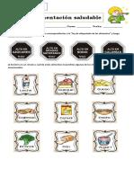 Guía 2 alimentación saludable  3° basico