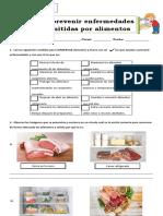 Guía 2 medidas de prevencion de enfermedades alimentarias  3° basico