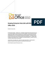 Keeping Enterprise Data Safe With Microsoft Office 2010 - Whitepaper