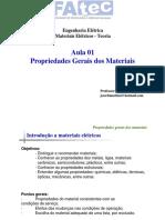 Aula01 - Propriedades Gerais dos Materiais