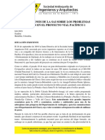 2. Consideraciones de La SAI Sobre Los Problemas Ocurridos en El Proyecto Vial Pacífico 1