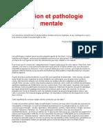 Religion et pathologie mentale