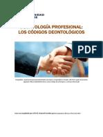 Unidad #5. Recurso 1. Lectura. Deontologia profesional