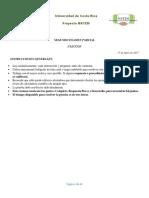 II  Parcial Cálculo MATEM 2017 con solucionario