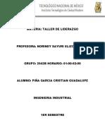 TAREA ESTILOS DE LIDERAZGO PIÑA GARCIA