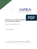 Punam Gupta 2010 - Performance of Indian Manufacturing
