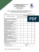 Rúbrica Evaluar Artículos Profesionales Currículo
