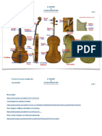 La struttura del violino