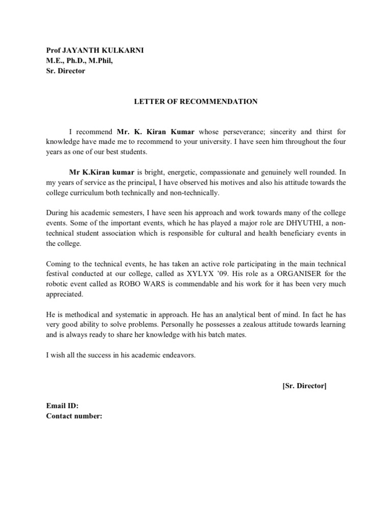 Letter Of Recommendation For Principal from imgv2-2-f.scribdassets.com