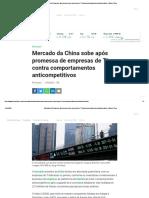 Mercado da China sobe após promessa de empresas de TI contra comportamentos anticompetitivos - Money Times