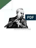 Livro Tocando Plauto Cruz - Paulo F. Parada (Paulinho Parada) e Reginaldo Braga