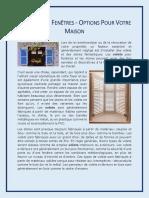 Volets Pour Fenêtres - Options Pour Votre Maison