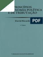 Princípios Economia Política Tributação David Ricardo