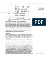 A. An analysis of utilization  and effectiveness of non financial incentive