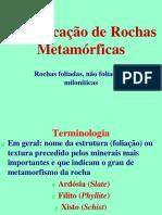 Classificação de metamórficas