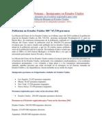La Diáspora Peruana. Censo 2010 Peruanos en US,  peruanos electores en el exterior  y Hispanos en Estados Unidos