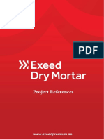 Exeed Premium Dry Mortar Project References