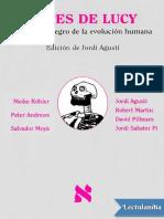Antes de Lucy El agujero negro de la evolucion humana - AA VV