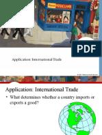 Application. International Trade