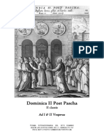 Dominica II Post Pascha. Ad I & II Vesperas