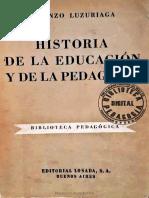 HISTORIA DE LA EDUCACIÓN Y DE LA PEDAGOGÍA