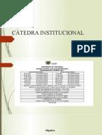 CÁTEDRA INSTITUCIONAL