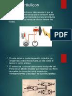 Frenos-hidraulicos,mecanicos, automaticos, electricos y ABS -pptx