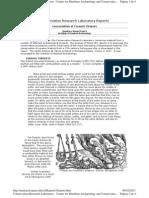 CRL Report 1. Conservation of Ceramics Firepots
