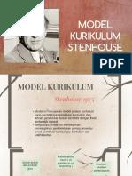 MODEL KURIKULUM STENHOUSE