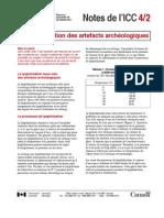VVAA. Lyophilisation Artefacts Archeologiques ICC. 2007