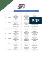 Calendario LDF 2021